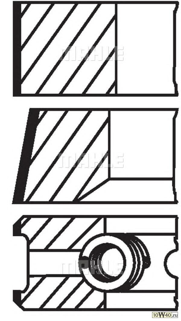 кольца поршневые d93.66x2x2x4 +1.0 (1)\ ford transit 2.5d 85-91