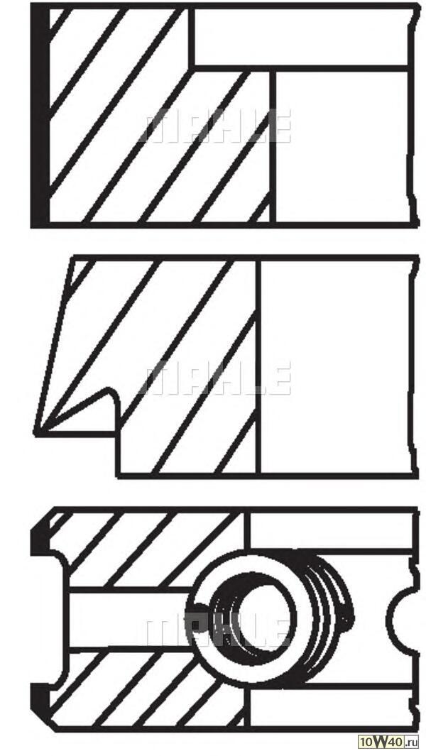 кольца поршневые d81x1.5x1.75x3 std (1)\ audi 1.8-2.2 82>