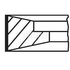 MAHLE ORIGINAL 03816N0 (276178) комплект поршневых колец