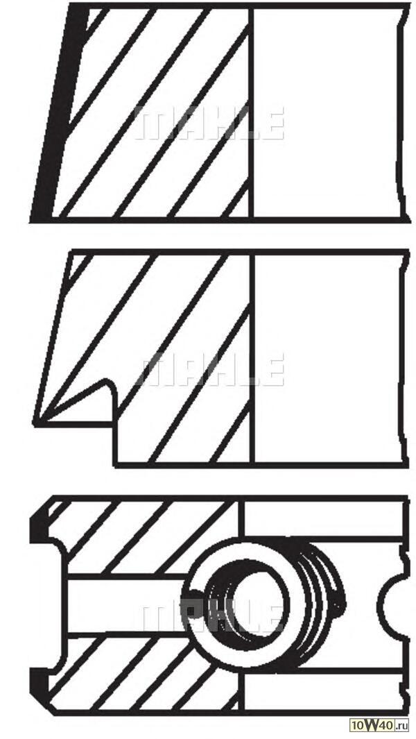 кольца поршневые d81x1.5x1.75x3 std (1)\ volvo c70 / s70 / v70 2.0t / 2.3t 93>