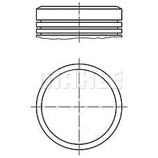 MAHLE ORIGINAL 040 04 01  поршень d78.5x1.2x1.5x2.5 +0.5\ Citroen (Ситроен) Xsara (Ксара) / c3 / c4, Peugeot (Пежо) 206 / 307 1.6 16v tu5jp4 02>