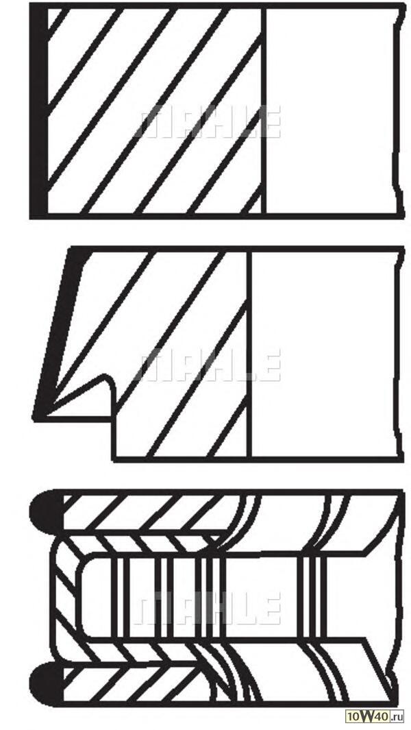 комплект колец (1 цилиндр) lada