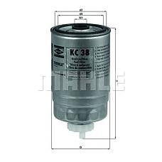 MAHLE KC38 (6135130 / 5020403 / 9947340) Фильтр топливный FIAT: DUCATO c бортовой платформо