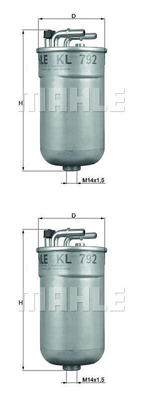 фильтр топливный gm