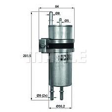 MAHLE ORIGINAL KLH11 (16126754017 / 16126764342) фильтр топливный BMW (БМВ) e65 / e66 6.0 l