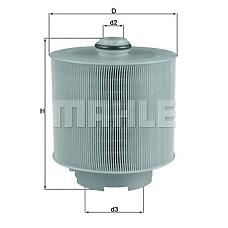 MAHLE LX1006/2D (4F0133843) фильтр воздушный