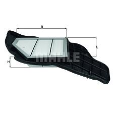 MAHLE ORIGINAL LX1684/5 (13717577458) фильтр воздушный BMW (БМВ) x5(e70) / f01 / f10 v=5.0 левый