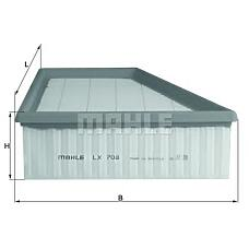 MAHLE ORIGINAL lx708 (6Q0129620 / 5Z0129620A) фильтр воздушный skoda