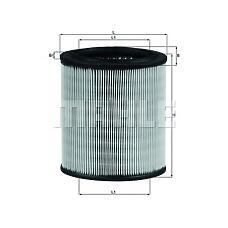 MAHLE ORIGINAL lx715 (1444E5 / 1444F0 / 144400000) фильтр воздушный Citroen (Ситроен) peugeot
