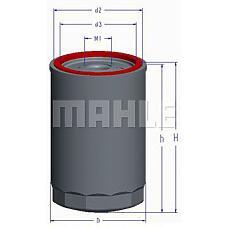 MAHLE ORIGINAL OC1 (F1641118M1 / 1641118M1) фильтр масляный citroen