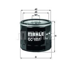 MAHLE ORIGINAL oc1051 (1007705 / 1070521 / 1E0514302) фильтр масляный Ford (Форд) Mazda (Мазда) volvo