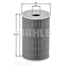 MAHLE OX156D (11422247392 / LPZ000020 / 11422247392LPZ000020) фильтр масляный