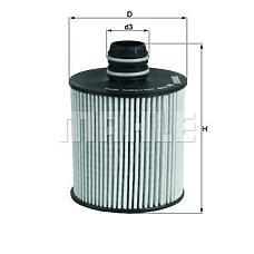 MAHLE OX779D (71754237 / 55223416 / 1651062M00) фильтр масляный