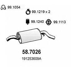 ASSO 58.7026 (191253609AC / 191253609A / 191253609AB) глушитель (задняя часть)