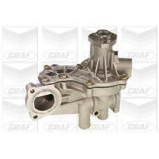 GRAF PA1105 (026121010CX / 037121010C / 65430G) насос охлаждающей жидкости Audi (Ауди) / VW 1.6 / 1.8 / 1.9td / 2.0 >99 (с корпусом / усиленное оснащение)