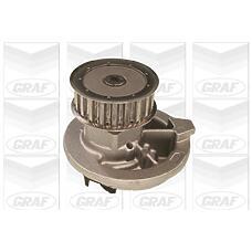 GRAF PA235 (90284802 / 1334013 / 90106656) насос охлаждающей жидкости Opel (Опель) 1.6 / 1.8 >90 / Daewoo (Дэу) Espero (Эсперо) >99