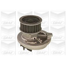 GRAF PA572 (1334041 / 92064250 / 1334050) насос охлаждающей жидкости Opel (Опель) Astra (Астра) f / g / vectra a / b / 1.7d 1.8 / 2.0 16v >00