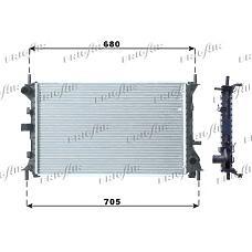 FRIGAIR 0105.3067 (1093458 / 98AB8005KF / 98AB8005KE) радиатор системы охлаждения акпп\ Ford (Форд) Focus (Фокус) 1.6-2.0 16v 98-05