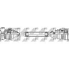 GSP 203002 (8D0407271AP / 8D0407451X / 8D0407451V) привод Audi (Ауди) a4 / VW Passat (Пассат) 1.6 / 1.8 95-01 лев.