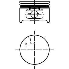 KOLBENSCHMIDT 40 277 610 (40277610 / 40277610_KS) поршень d79.5x1.5x1.5x2.5 +0.25\ Renault (Рено) logan / sandero 1.4i k7j 04>