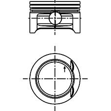 KOLBENSCHMIDT 40 382 600 (90571680 / 24402731 / 24402737) поршень d72.5x1.2x1.5x2 std\ Opel (Опель) Corsa (Корса) 1.0 97>