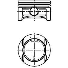 KOLBENSCHMIDT 40 384 600 (55351091 / 55355076 / 55351090) поршень d73.4x1.2x1.2x2 std\ Opel (Опель) agila / Corsa (Корса) 1.0i 12v z10xep 03>
