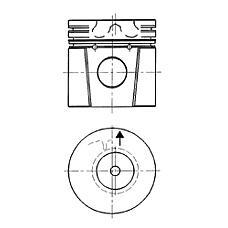 KOLBENSCHMIDT 92 253 600 (ERR2410 / 92253600 / 92253600_KS) поршень d90.5x3x2.5x3 std Land rover (Ленд ровер) Defender (Дефендер) / Discovery (Дискавери) 2.5tdi 94>