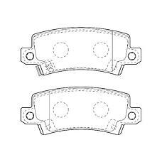 WAGNER WBP23816A (0446602020 / 0446602070 / 0446602160) колодки дисковые з.\Toyota (Тойота) Corolla (Корола) 1.4i / 1.6 / 2.0d 01>диск15'
