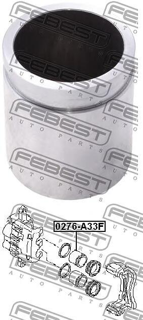 поршень суппорта тормозного переднего (subaru impreza g11 2000-2007) febest