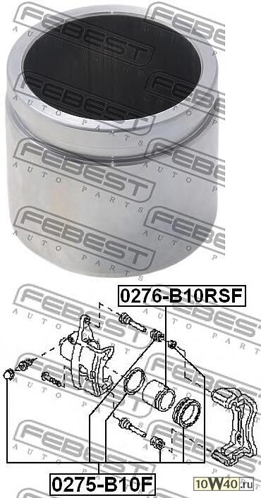 поршень суппорта тормозного переднего (nissan almera b10rs (classic) 2006-) febest