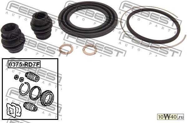 ремкомплект суппорта тормозного переднего (honda cr-v rd4 / rd5 / rd6 / rd7 / rd9 2001-2006) febest