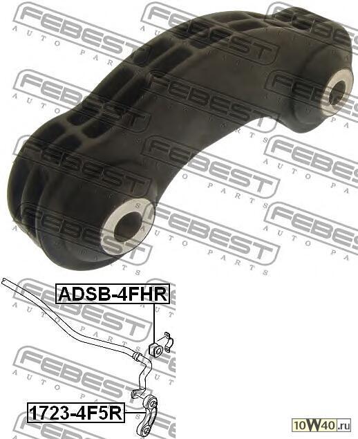 тяга стабилизатора задняя (audi a6 avant (4f5) 2005-) febest