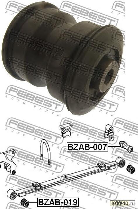 сайленблок задней рессоры (mercedes benz sprinter 209 / 211 2006-) febest