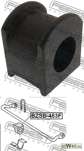 втулка переднего стабилизатора (mercedes benz g-class 463 1989-) febest