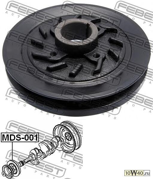 шкив коленвала 4d56 (mitsubishi pajero II v14w-v55w 1991-2004) febest