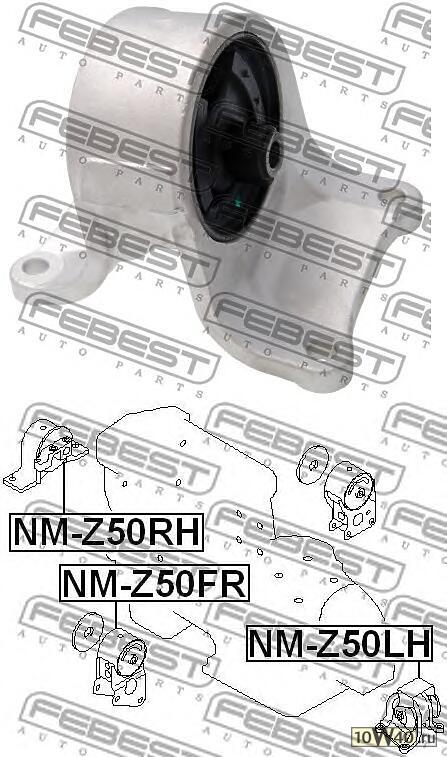 подушка двигателя левая nissan murano z50 2002-2007