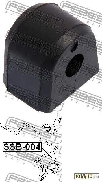 втулка заднего стабилизатора d12 (subaru impreza g11 2000-2007) febest