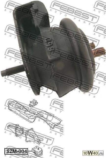 Подушка двигателя передняя (гидравлическая) SUZUKI GRAND VITARA/ESCUDO SQ416/SQ420/SQ625 1998-2006