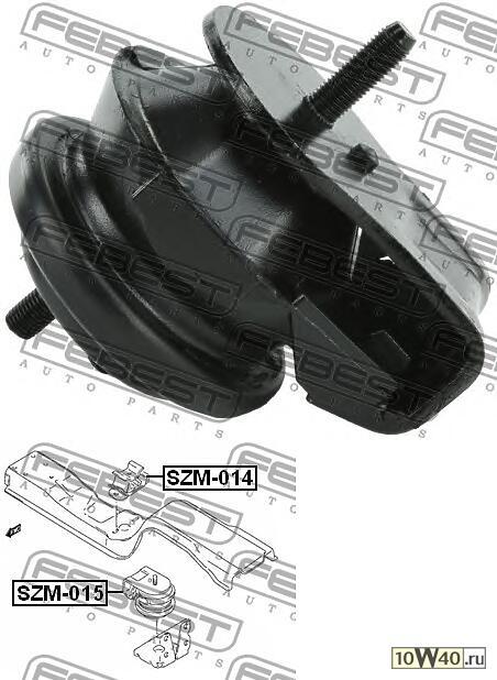 подушка двигателя передняя (suzuki grand vitara / escudo sq416 / sq420 / sq625 1998-2006) febest