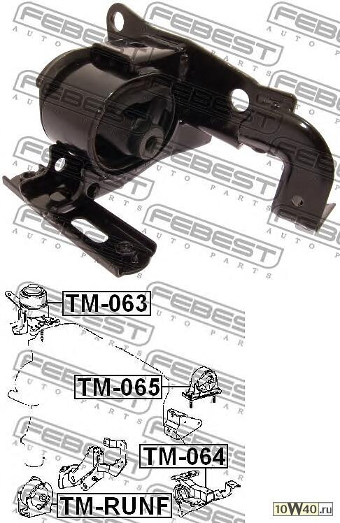 Подушка двигателя левая TOYOTA RAV4 ACA2 /CLA2 /ZCA2  2000-2005