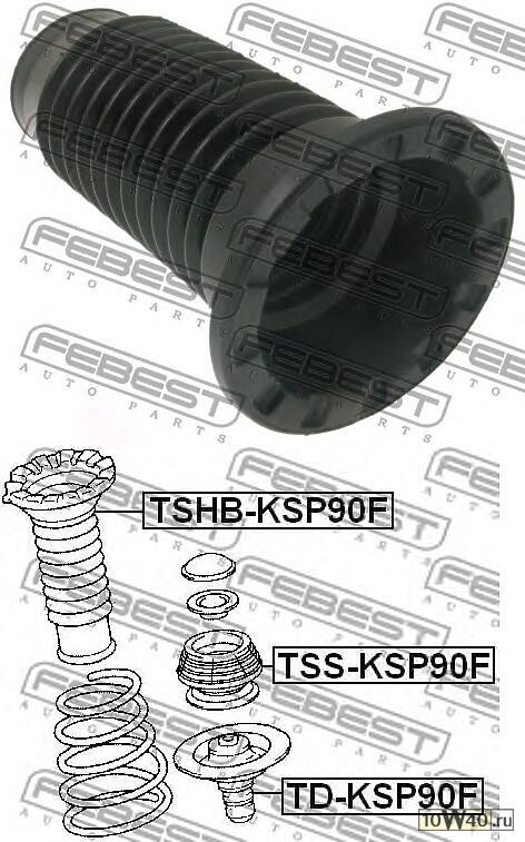 пыльник переднего амортизатора (toyota yaris ksp90 / nlp90 / nsp90 / scp90 / ncp90 / zsp90 2005-) febest