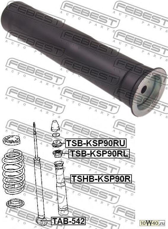 пыльник заднего амортизатора (toyota yaris ksp90 / nlp90 / nsp90 / scp90 / ncp90 / zsp90 2005-) febest