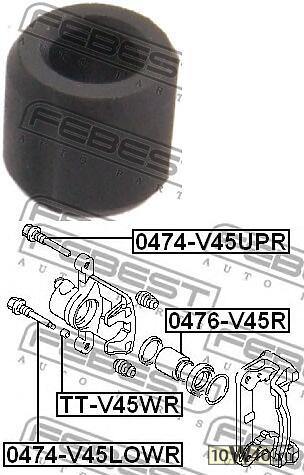 заглушка направляющей втулки тормозного суппорта (mitsubishi pajero II v14w-v55w 1991-2004) febest