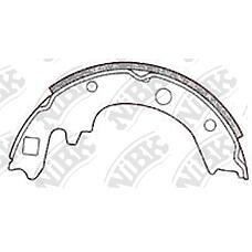 NiBK FN3351 (44060HC525 / 44060HC526 / 44060HC556) колодки тормозные задние