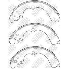 NIBK FN7747 (26257AA030 / 26257AA050 / 26257AA040) колодки барабанные з.\ Subaru (Субару) Impreza (Импреза) 93> / Legacy (Легаси) 1.6-22 89>