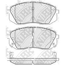 NIBK pn0052 (581011DE00 / 581012SA70 / 581010ZA00) колодки тормозные дисковые (передние) ki Carens (Каренс) 2.0 / 2.4 / 2.7l 06- 1.6l 09- Sportage (Спортедж) 2.0l 10- hy ix