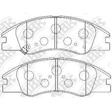 NIBK PN0060 (581012FA20 / 581012FA10 / 581012FA21) колодки дисковые п.\ Kia (Киа) Cerato (Серато) 1.5-2.0crdi 04>