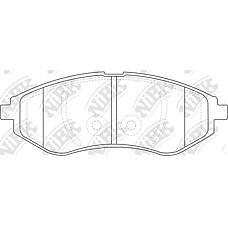 NIBK pn0370 (96534653 / 94566892 / 95231012) колодки тормозные дисковые (передние) ch aveo 1.4 / 1.6l 02-06 kalos t250 1.2 / 1.4l 05-08 1.6l 06-08