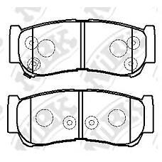 NIBK pn0447 (583022BA20 / 583022BA00 / 583024AA00) колодки тормозные дисковые (задние) hy Santa fe (Санта фе) 2.2 / 2.7l 06- 3.2 / 3.3l 07- h1 Starex (Старекс) / cargo 2.4l 01-