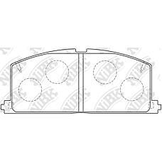 NIBK pn1077 (0446512090 / 0449112250 / 0446510040) колодки тормозные дисковые (передние) to caldina Camry (Камри) / vista Carina (Карина) Carina (Карина) ed Celica (Селика) Corolla (Корола) c